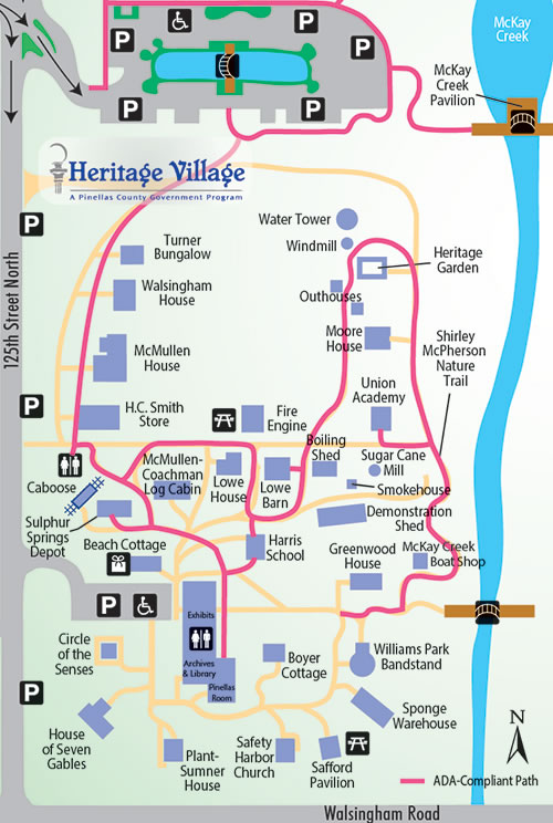 Map Of The Villages Florida.Pinellas County Florida Heritage Village Village Map