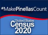 Census 2020 logo, #makePinellasCount