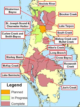 Florida Watershed Map.Pinellas County Florida News Watershed Management Water Quality