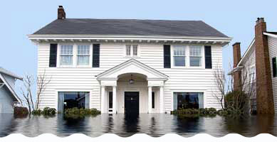 Pictures of flooded houses