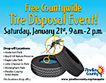 Free Countywide Tire Disposal Event - Saturday, Jan. 21st, 9 am-2 pm