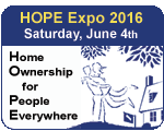 HOPE Expo 2016, Saturday, June 4th, Home Ownership fo People Everywhere
