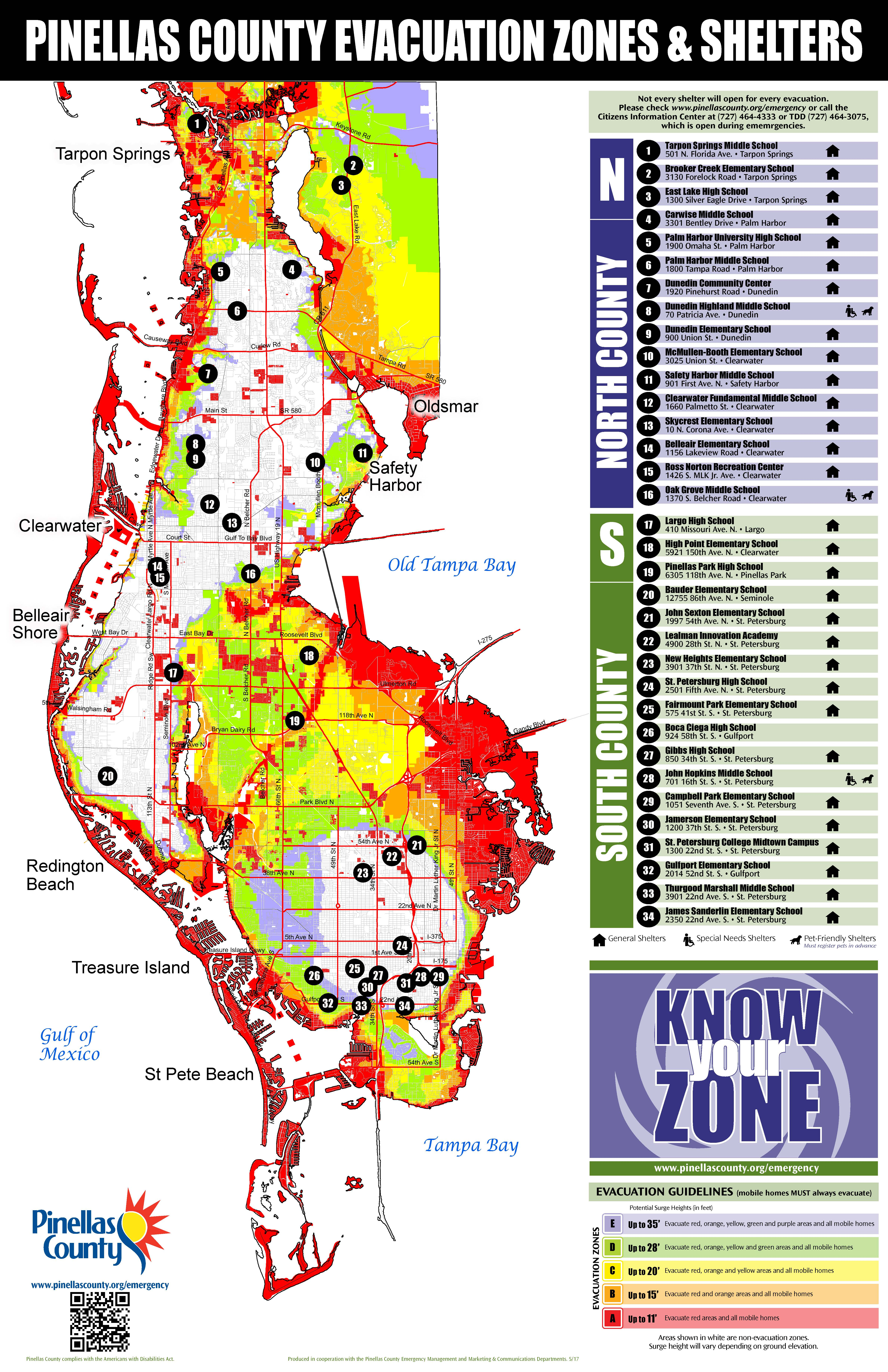 Pinellas County Florida Emergency Management Know Your Zone