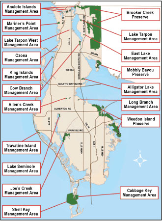 Pinellas County Map Florida.Pinellas County Florida Parks Conservation Resources Managed Areas