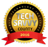 Public Technology Institute - Tech Savvy County 2016 award logo
