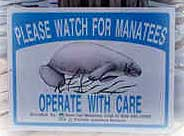 Please Watch for Manatees Signage