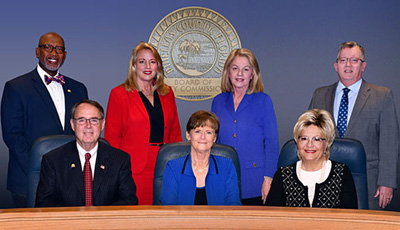 image of the Pinellas County Board of County Commissioners in the Commissioners assembly room